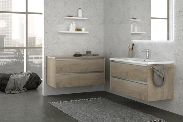 Aquatrend City Grey Oak Bathroom Furniture Range