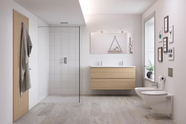 Joy Rak Ceramics Oak Bathroom Furniture Range