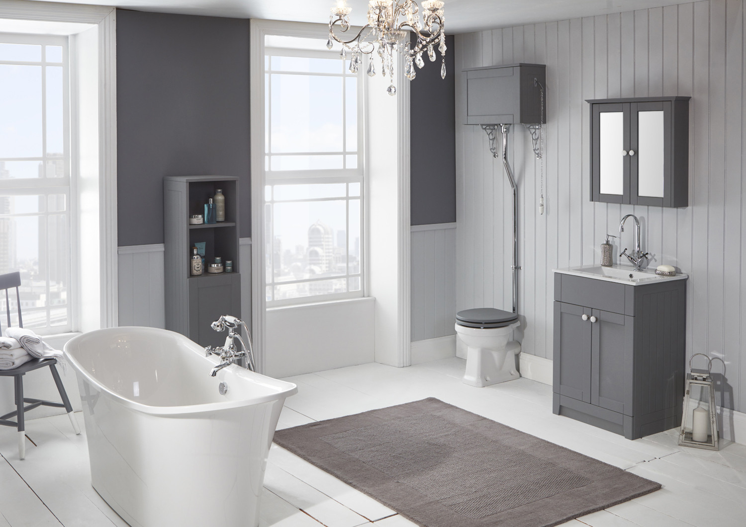Holborn 590mm Vanity Unit Dust Grey Frontlinebathrooms Com