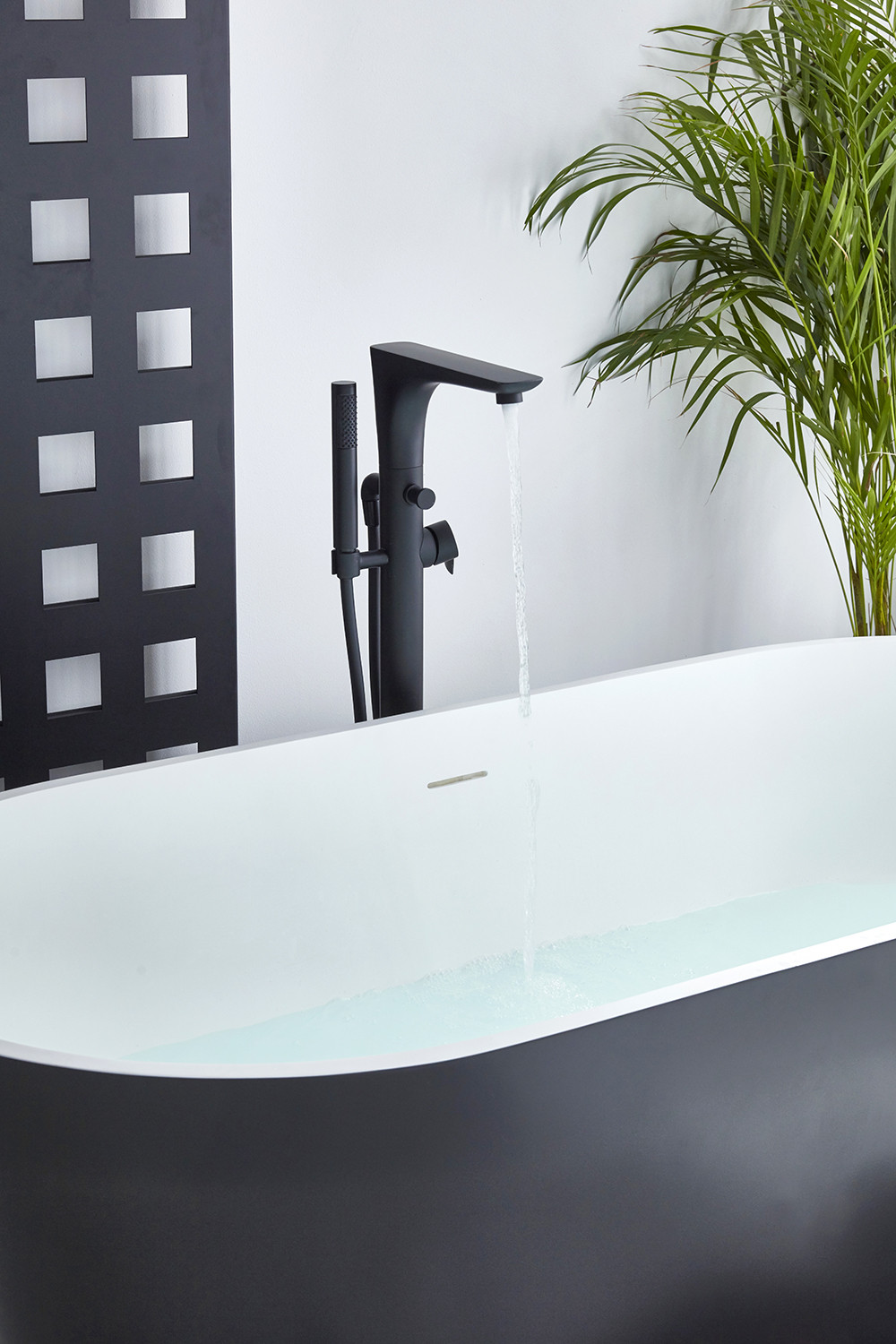 Vibe Black Freestanding Bath Shower Mixer