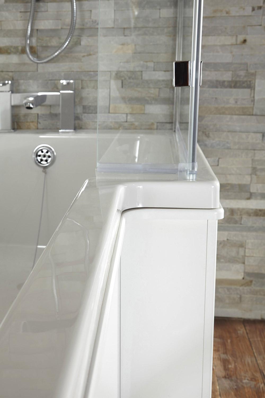 Blok L Shaped Shower Bath