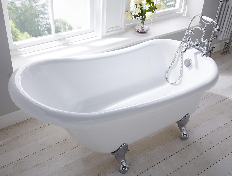 Camden Traditional Freestanding Slipper Bath White