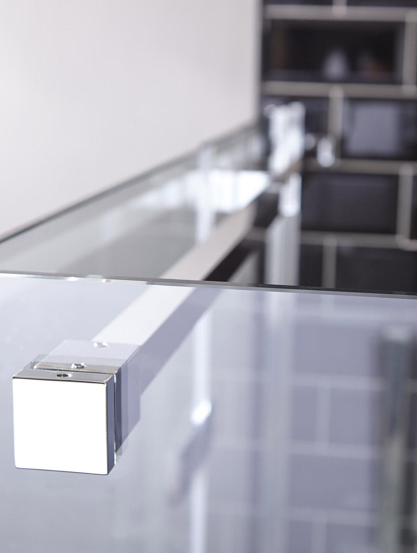 Aquaglass Elegance Hinged Door With Inline Panel Left
