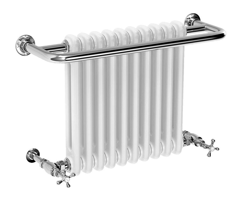 Black 400mm Towel Radiator: Edwardian 491 X 741mm Traditional Towel Rail