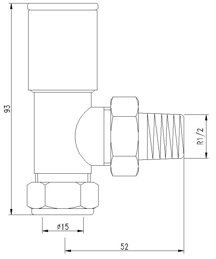 Angled Standard Radiator Valves | FrontlineBathrooms.com