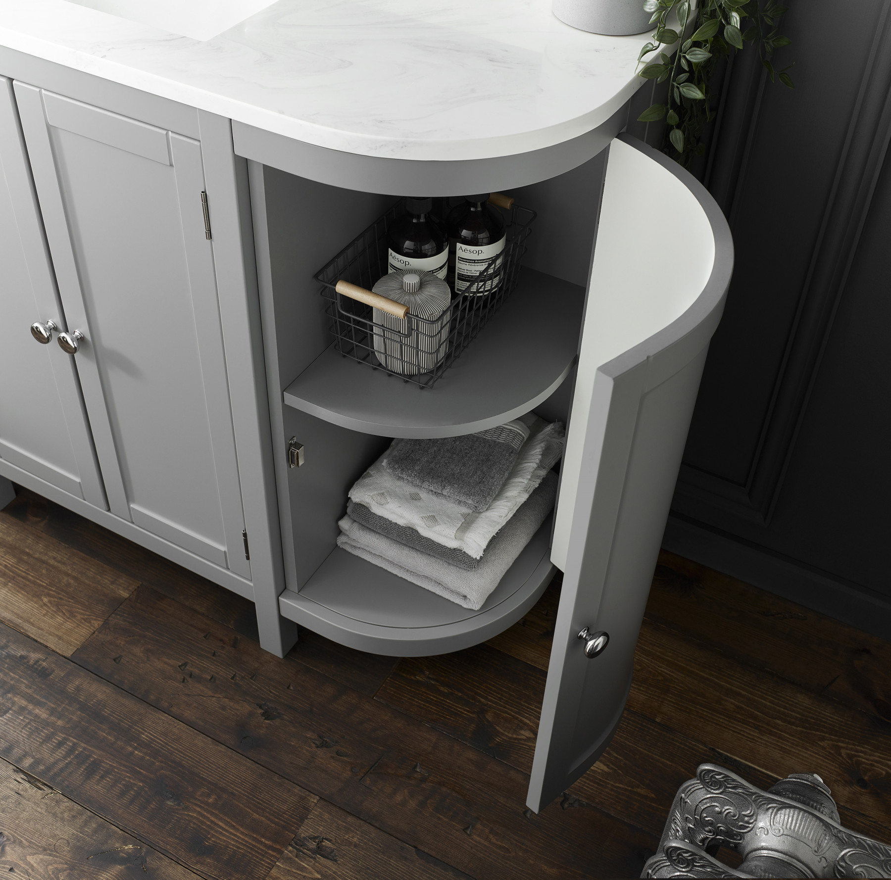 Holborn Curved 900mm Traditional Floor-Standing Vanity ...