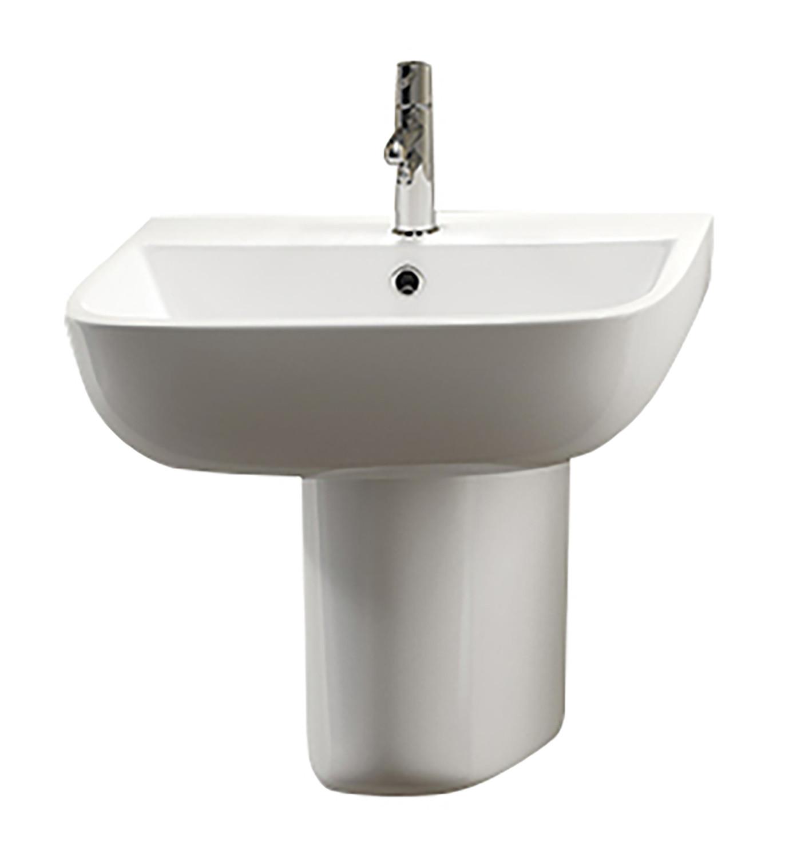 Series 600 Semi Pedestal Basin 1 Tap Hole