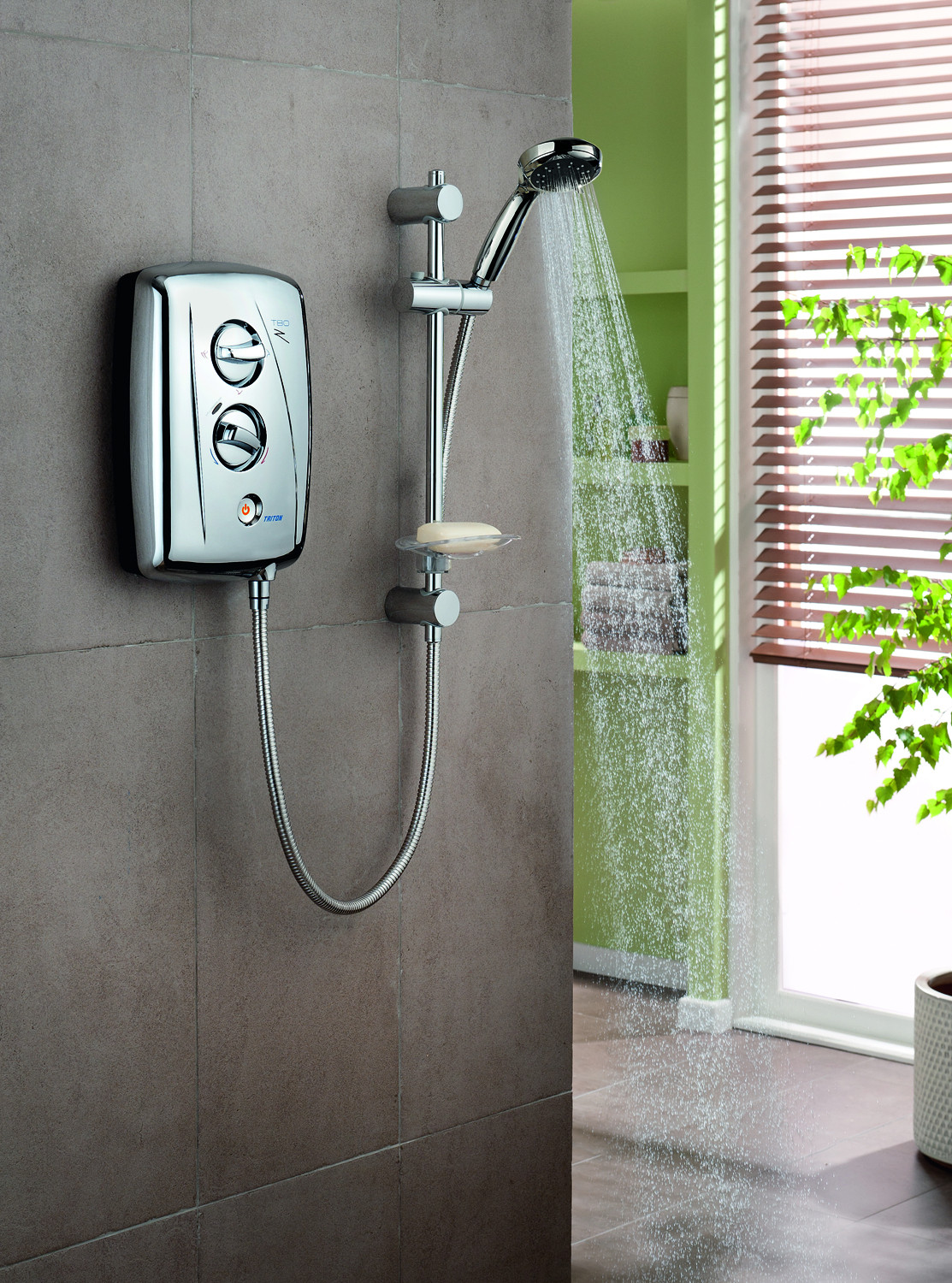 T80z 95kw Fast Fit Electric Shower Chrome Frontlinebathroomscom How To Wire An More Views