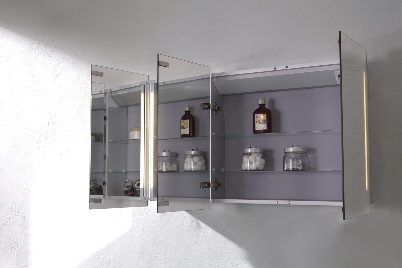 Valletta Triple Mirrored Led Cabinet With Shaving Socket