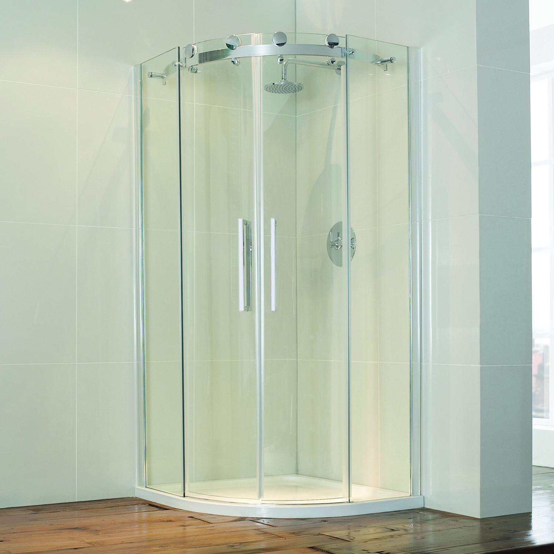 Aquaglass+ Frameless 8mm 2 Door Quadrant Enclosure