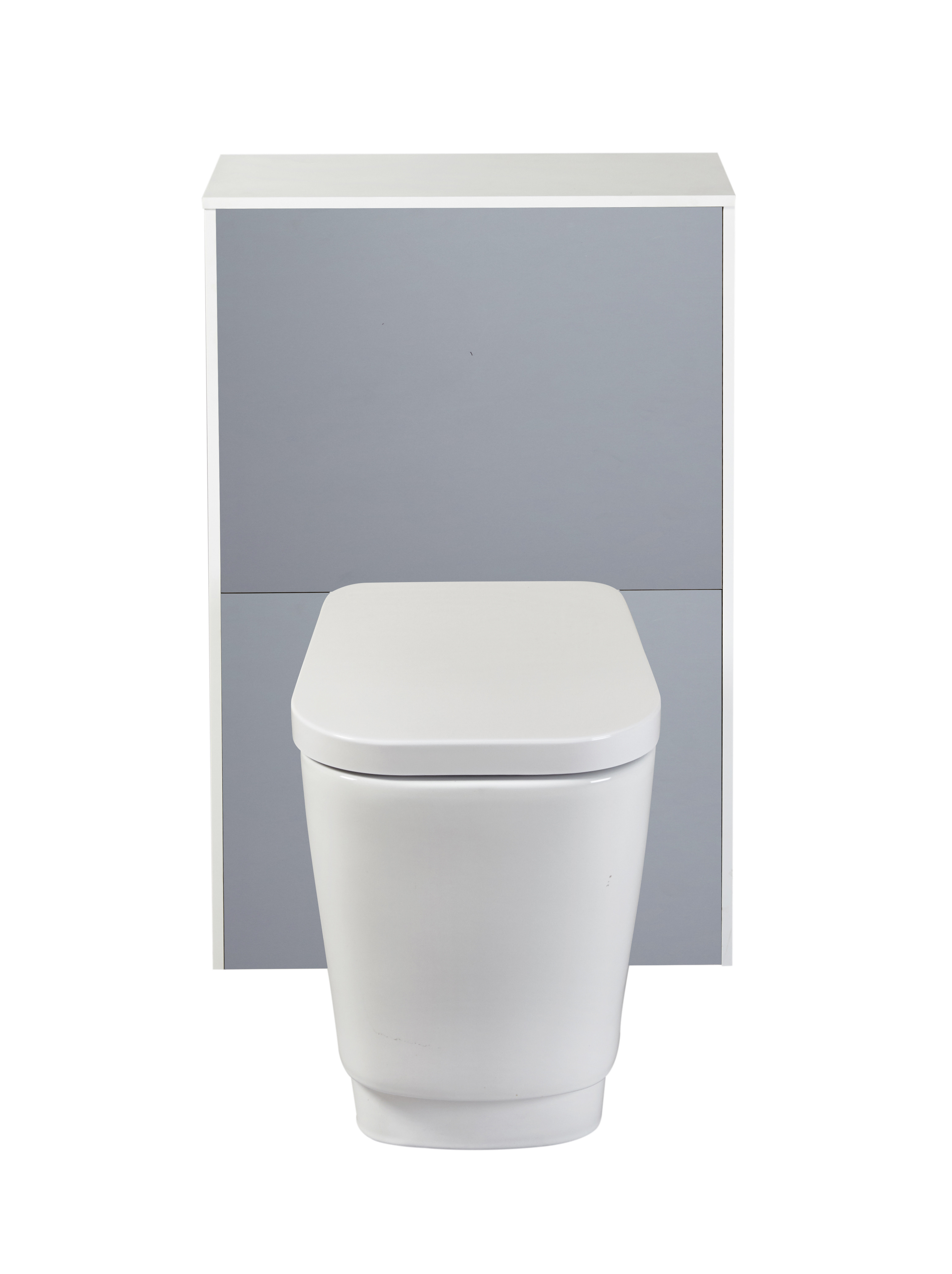 Aquanatural Solid Surface Back-To-Wall Toilet Unit - Slate Grey ...