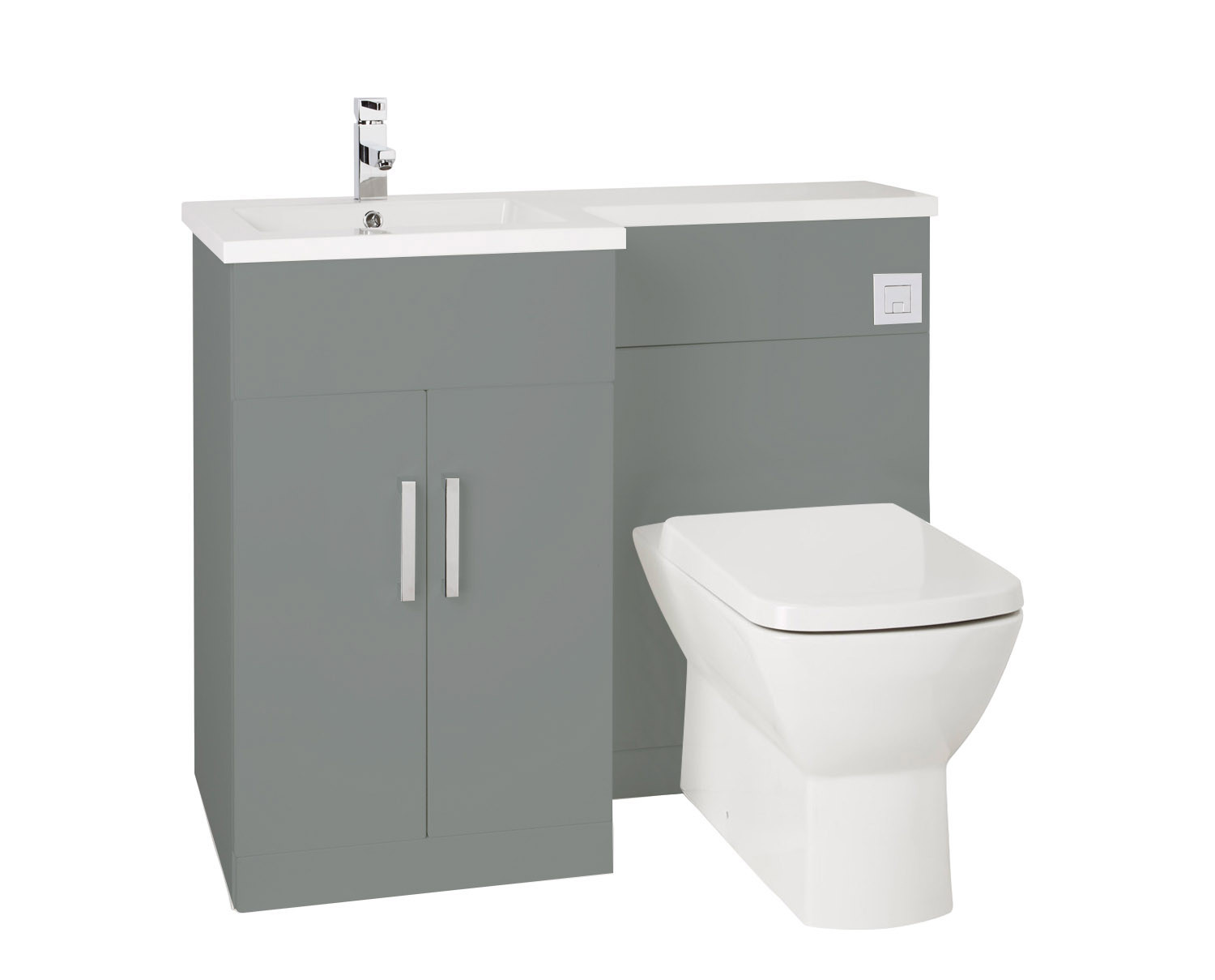 Sensational Aquatrend Petite Left Hand Back To Wall Basin And Toilet Pdpeps Interior Chair Design Pdpepsorg