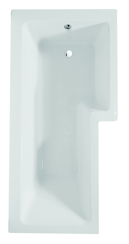 Blok L-Shaped Shower Bath - Right Hand