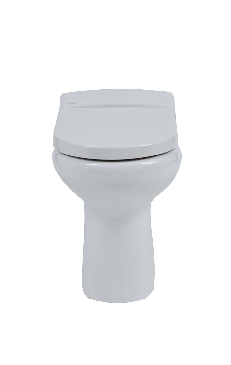 Compact Rimless Back-to-Wall Toilet with Soft-Close Seat