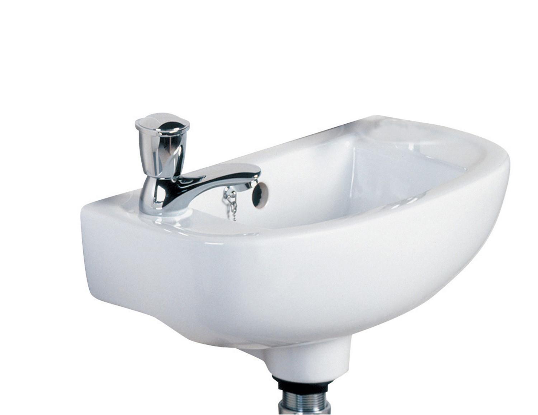 Compact Slim 450mm Cloakroom Basin - LH
