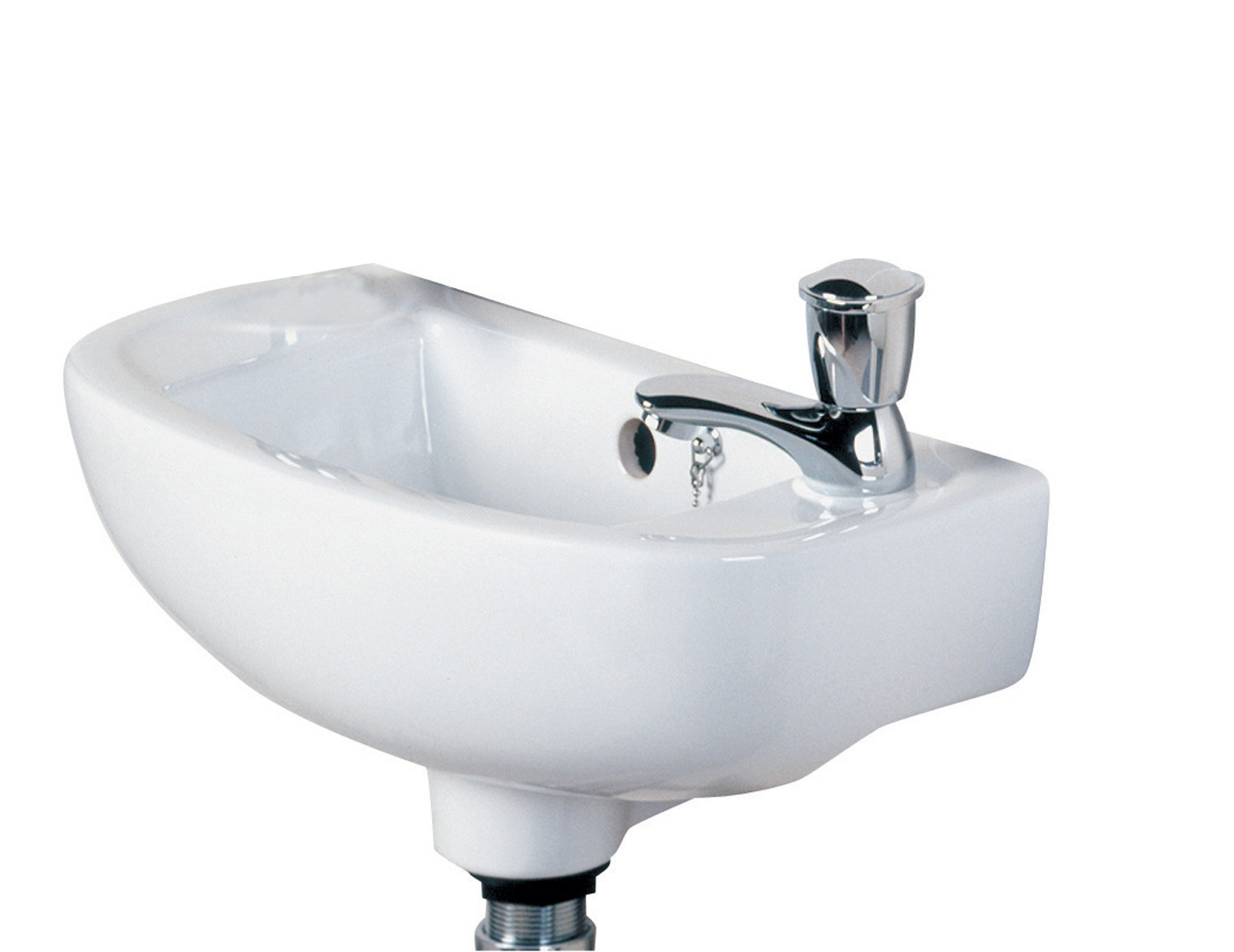 Compact Slim 450mm Cloakroom Basin - RH