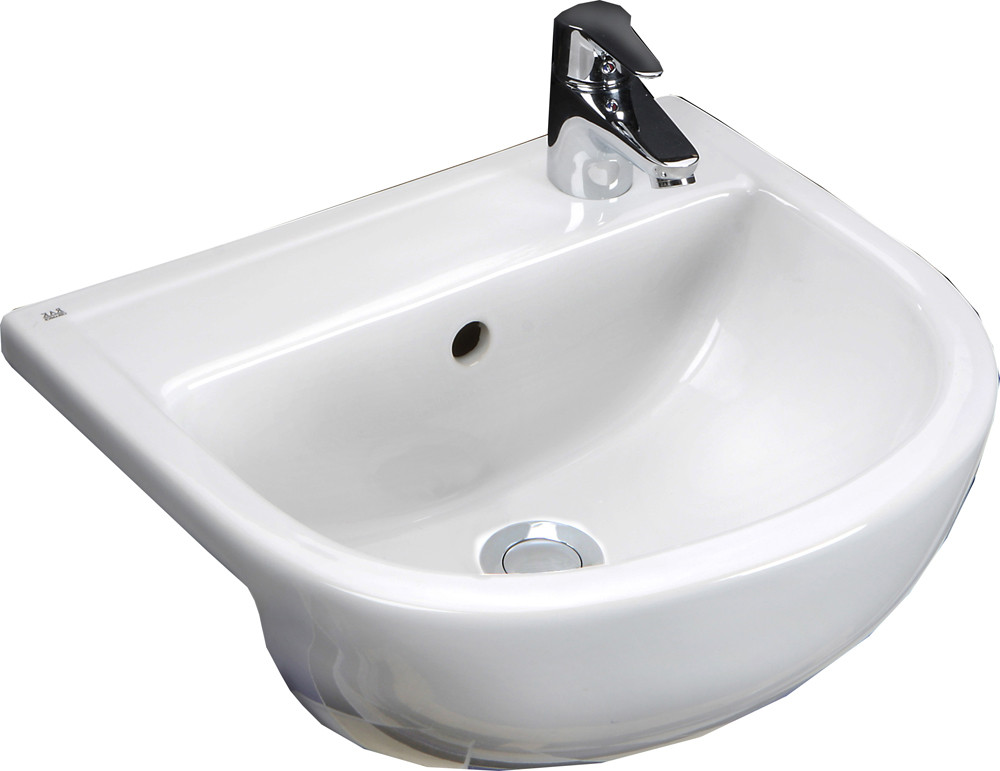 Compact 450mm Semi-Recessed Basin - 1 Tap Hole LH