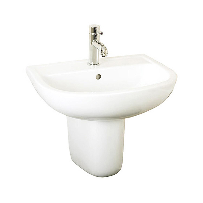 Compact Semi-Pedestal Basin - 1 Tap Hole