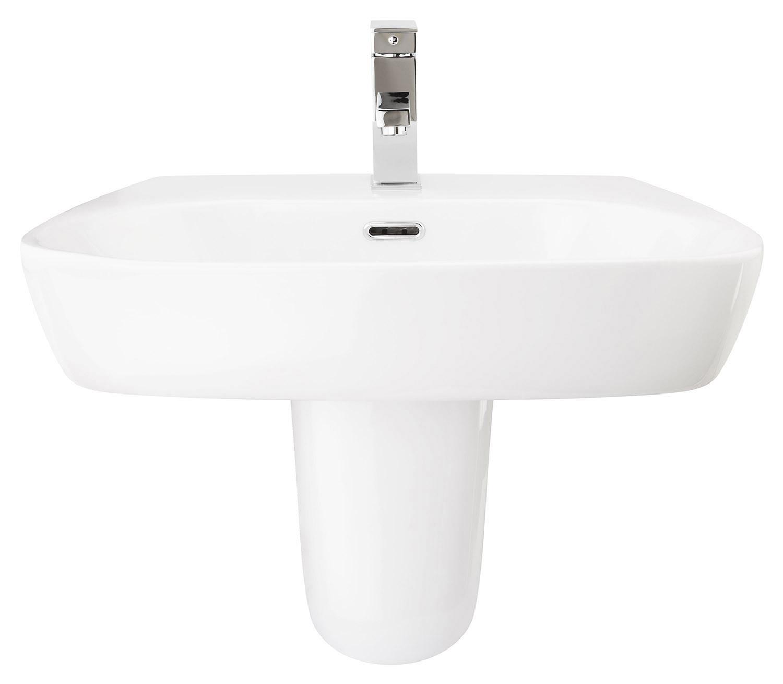 Cubix 600mm Semi-Pedestal Basin
