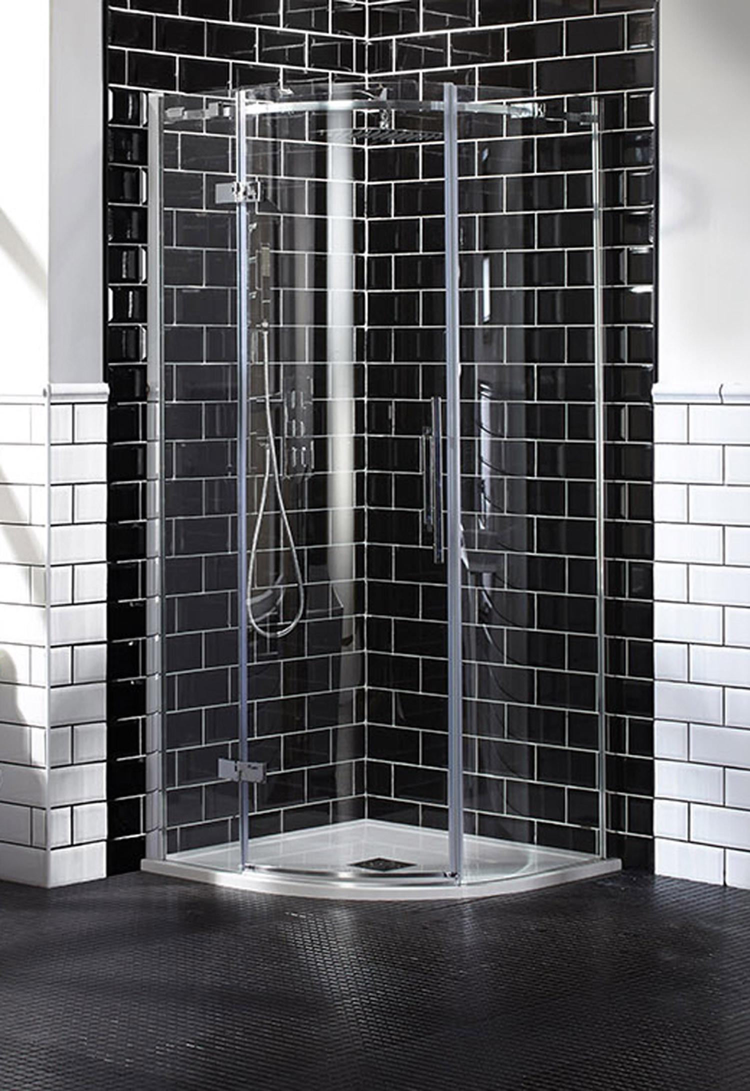 Aquaglass+ Elegance Hinged Quadrant Enclosure - Left Hand