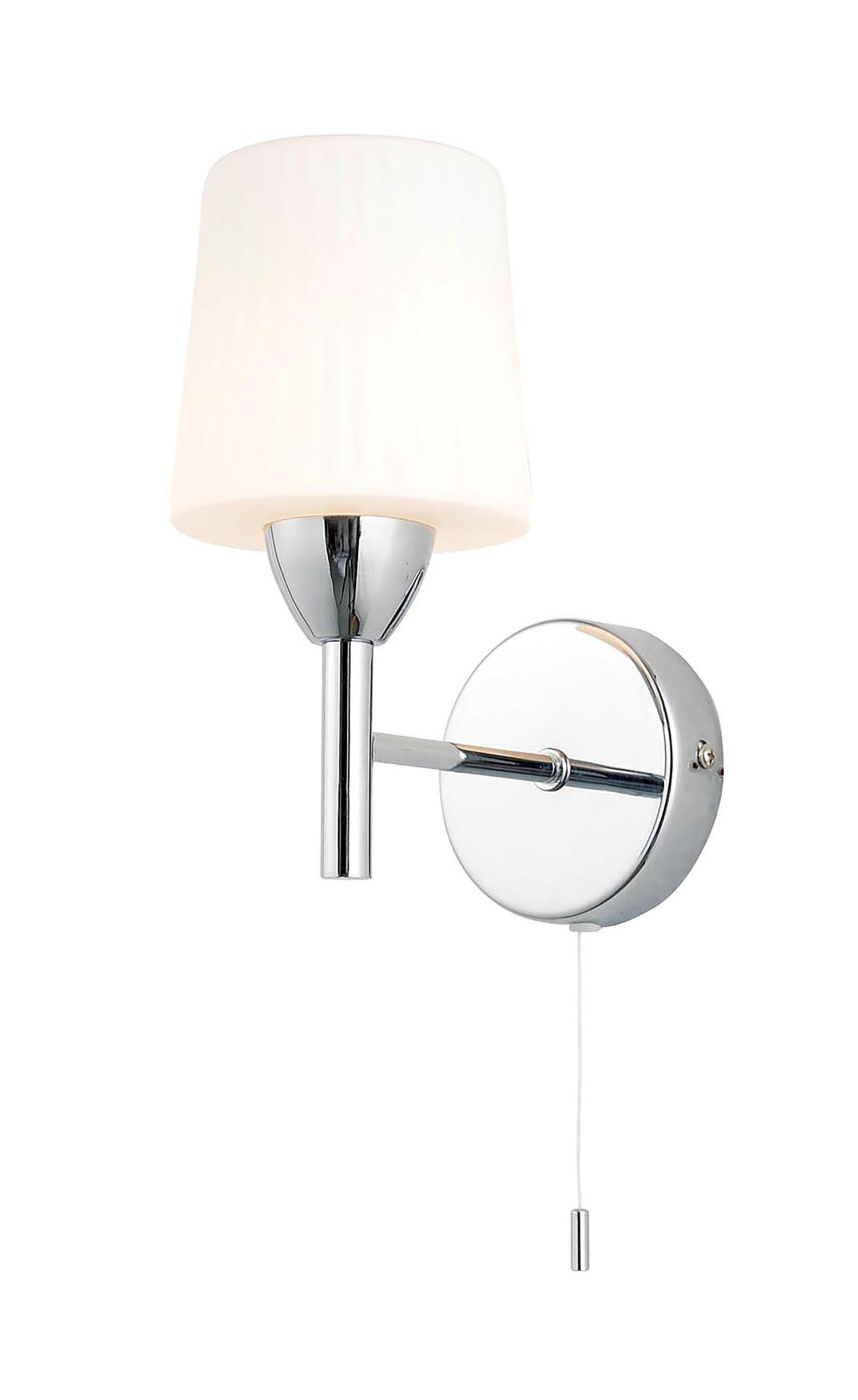 Aqua Wall Light with Pull Chord