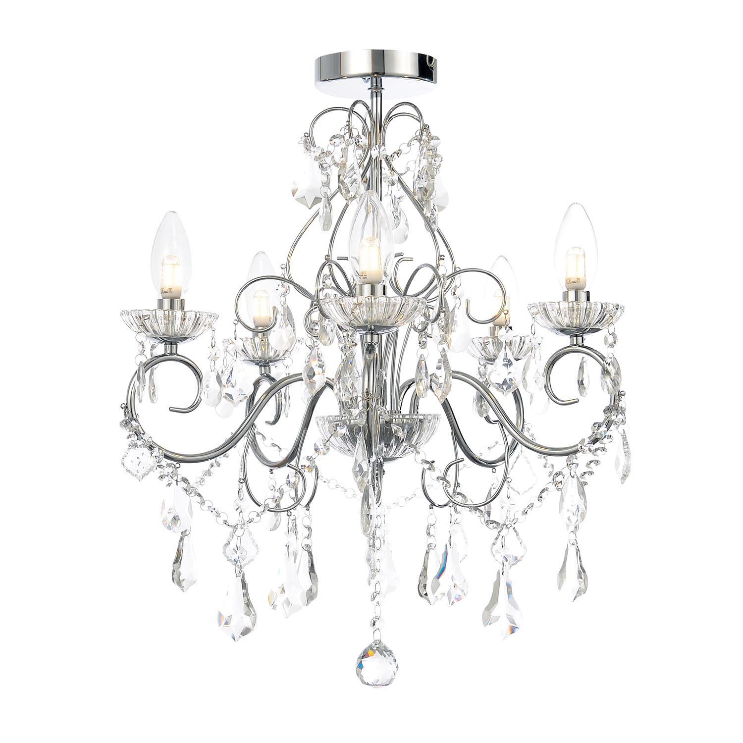 Boutique 5 Light Bathroom Chandelier