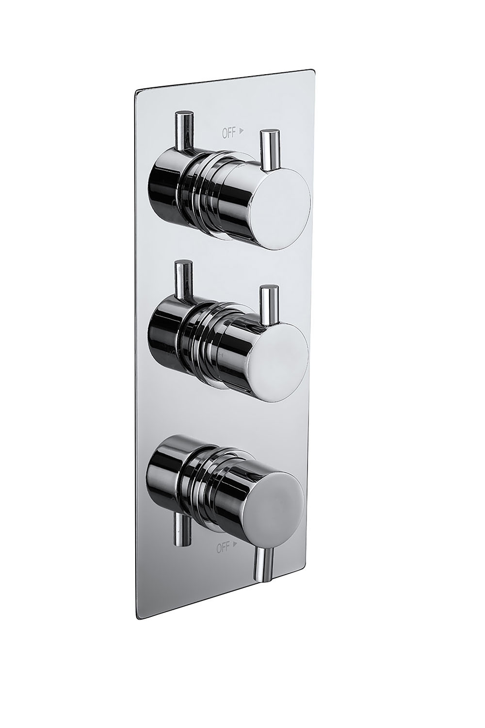 Pure Triple Concealed Thermostatic 2-Way Shower Valve ...