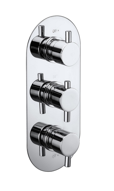 Evoke Triple Concealed Thermostatic 2-Way Shower Valve ...