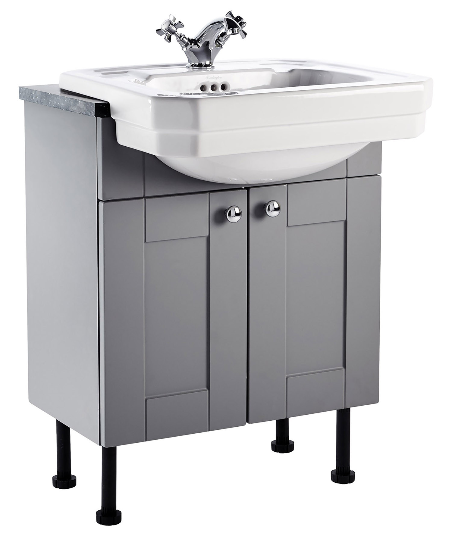 Holborn 600mm Fitted Vanity Unit with Semi-Recessed Basin - Dust Grey