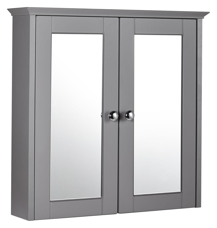 Holborn 600mm Mirrored Cabinet - Dust Grey