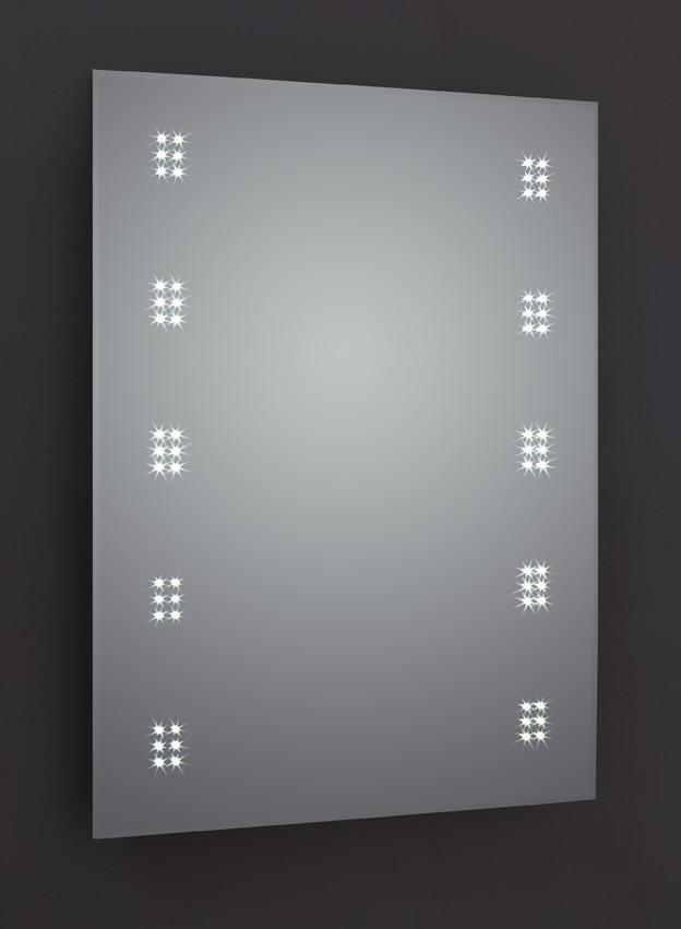 Alpha LED Mirror with Sensor, Demister & Shaving Socket