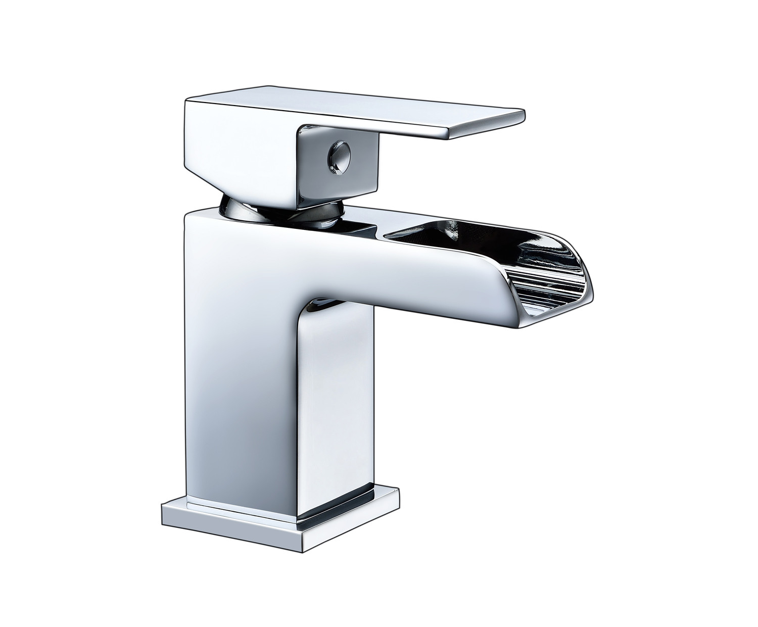 Stream Mini Waterfall Basin Mixer with Sprung Waste