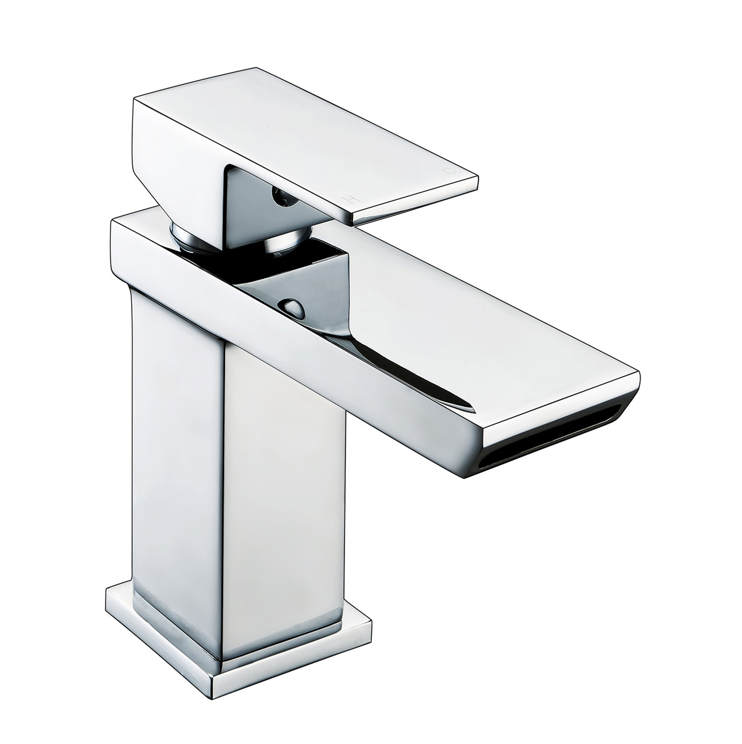 Sleek Mini Watefall Basin Mixer with Sprung Waste