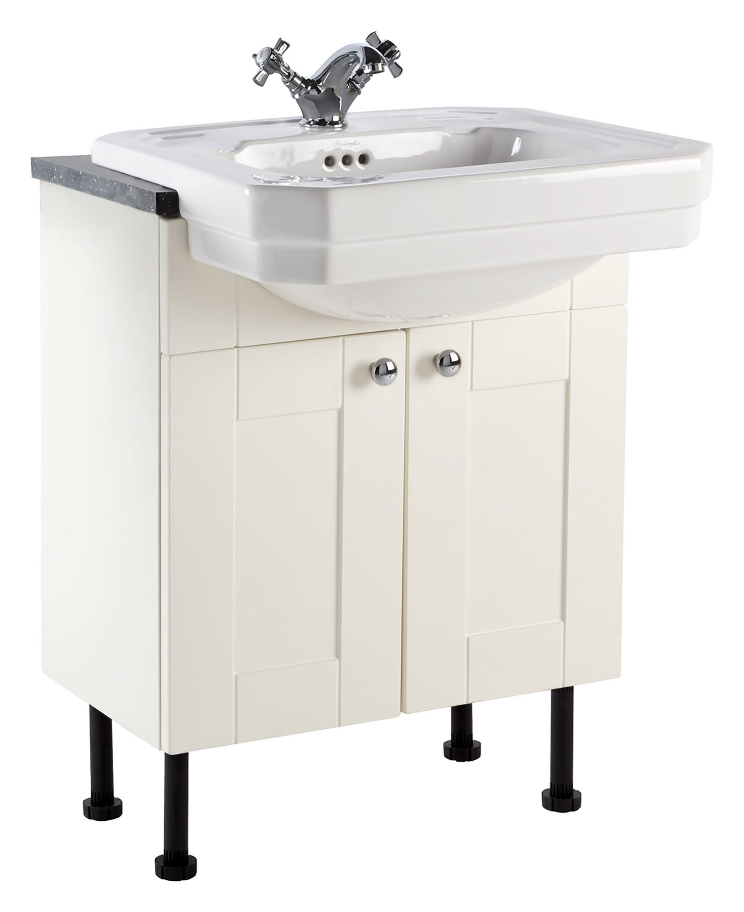 Holborn 600mm Fitted Vanity Unit with Semi-Recessed Basin - Crema