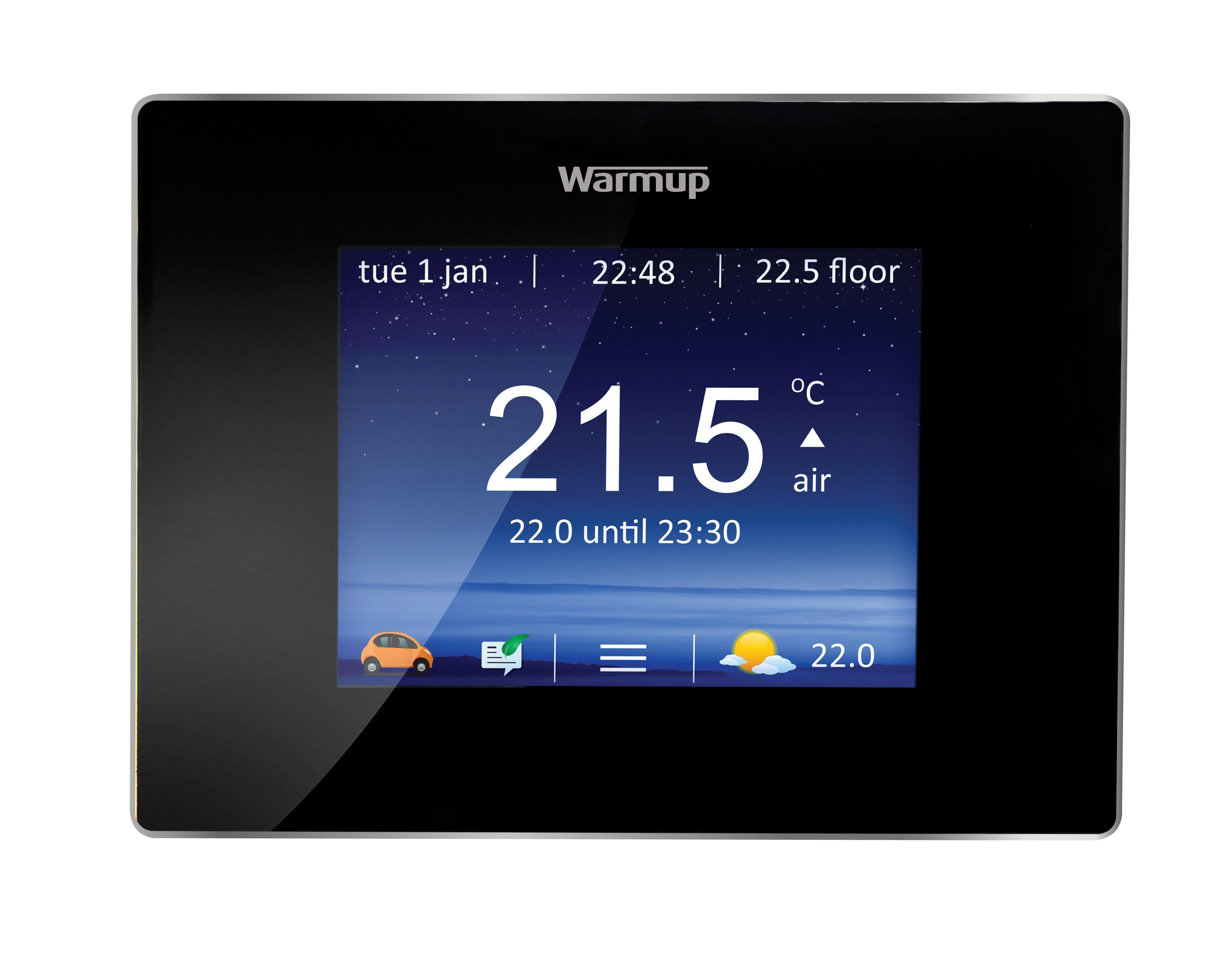 4iE Smart WiFi Thermostat - Onyx Black