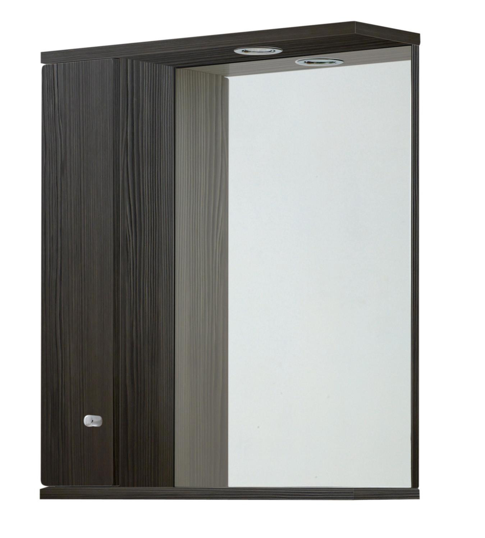 Aquapure 650mm Illuminated Mirrored Cabinet - Avola Grey