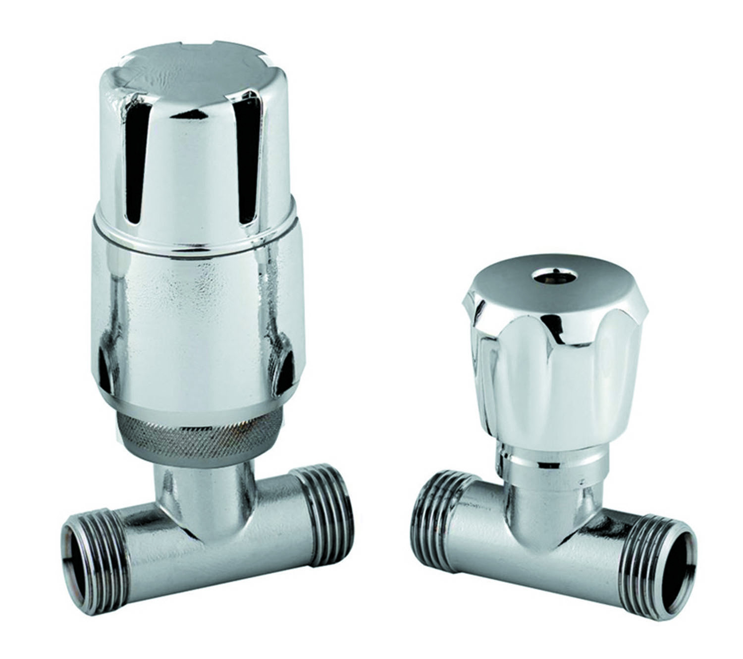 Straight Thermostatic Lockshield Radiator Valves