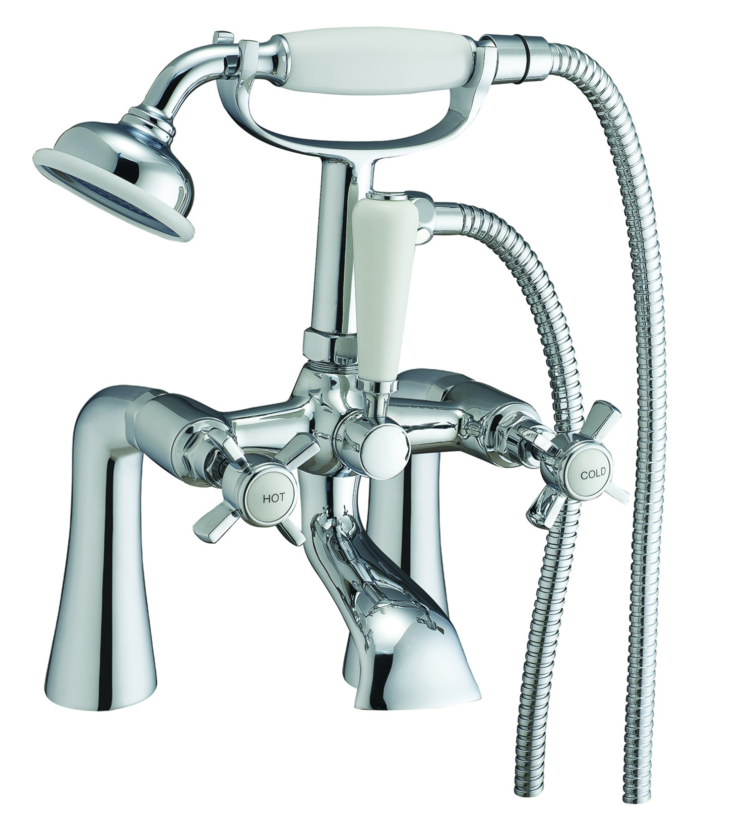 Victorian Bath Shower Mixer   FrontlineBathrooms.com