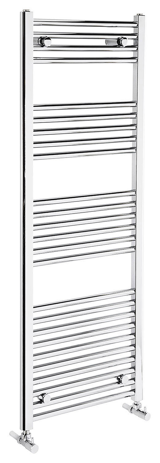 Flat 1350mm Heated Towel Rail - Chrome