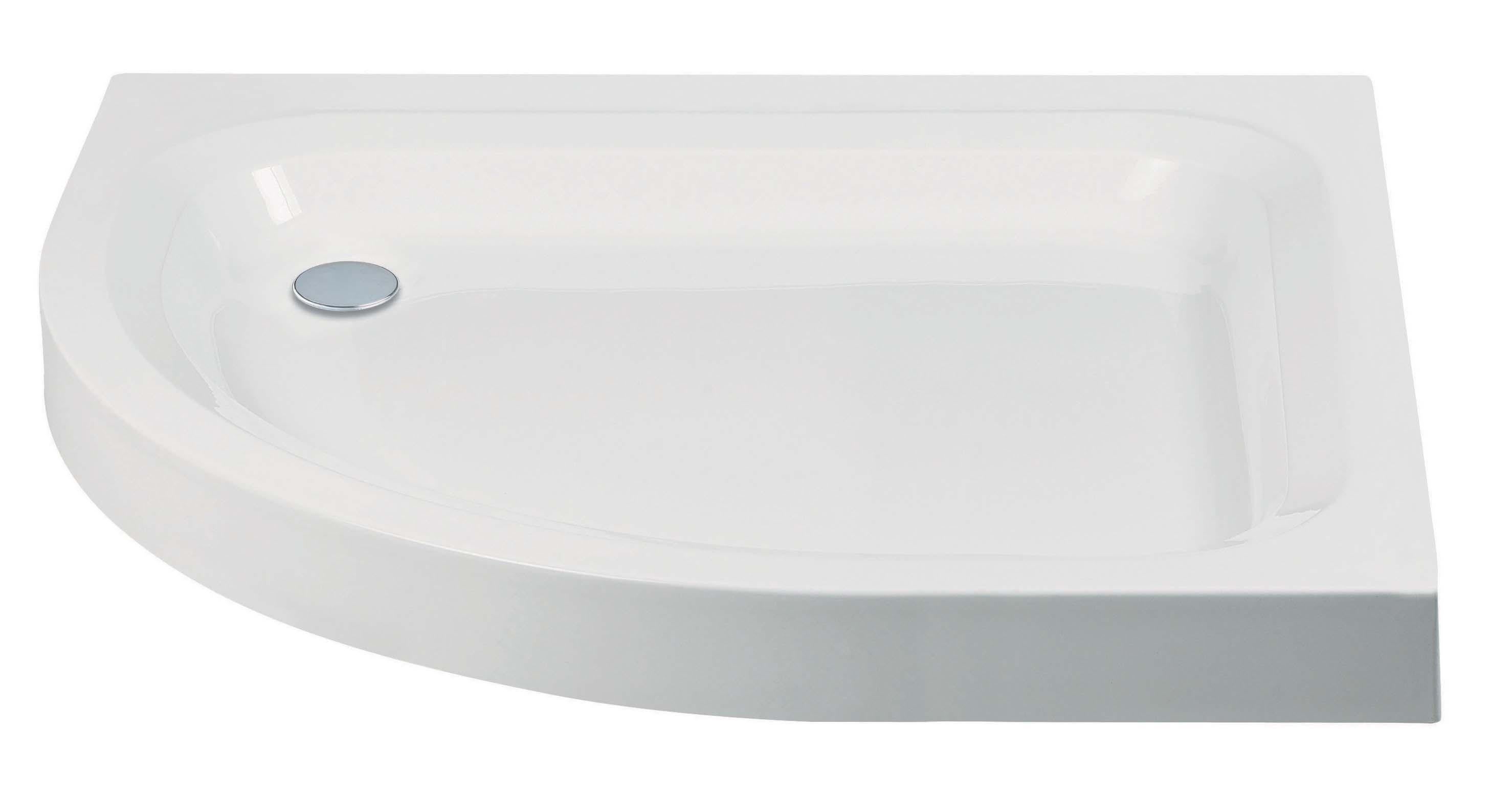 Standard Offset Quadrant Shower Tray with Anti-Slip Option