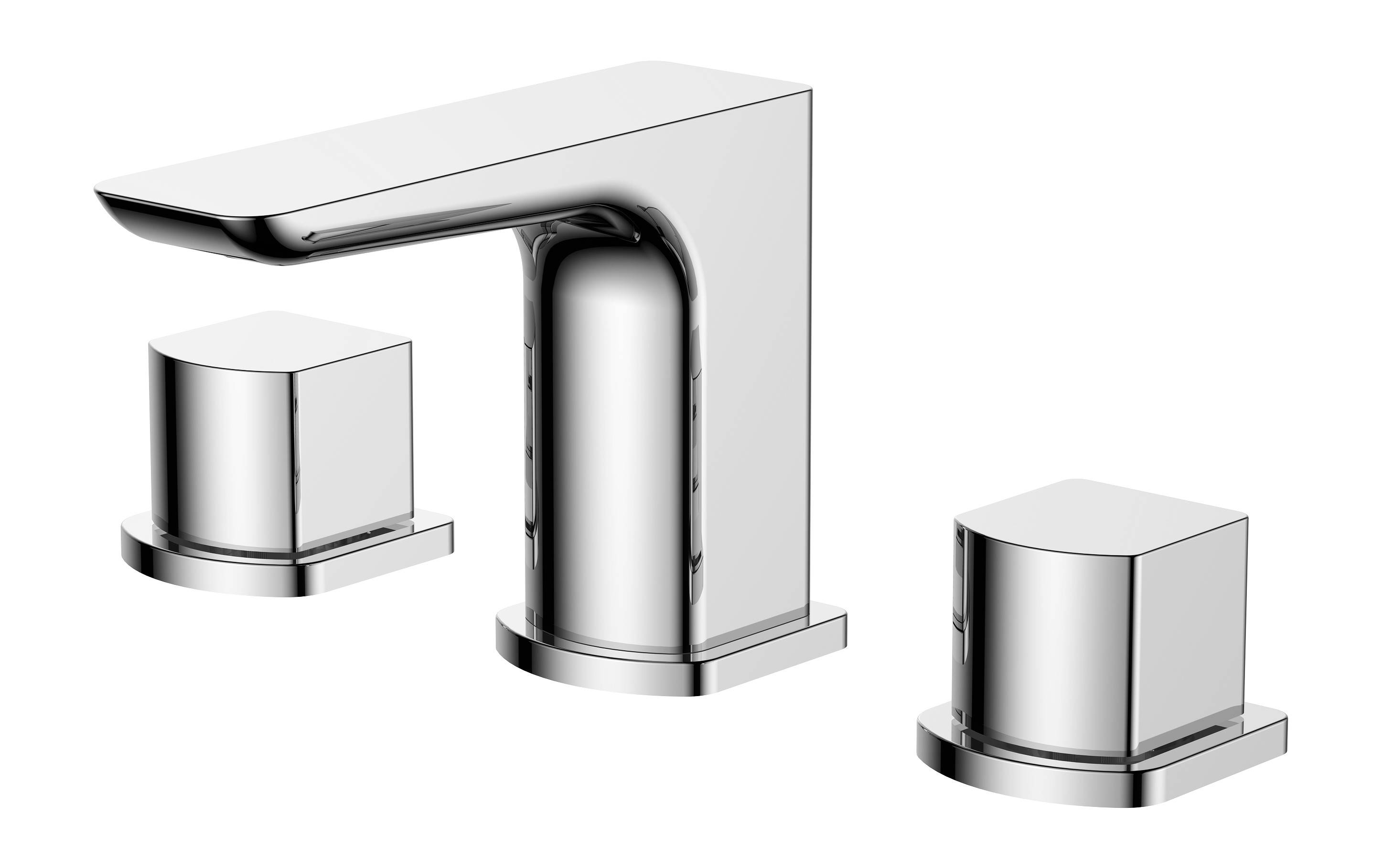 Sabre 3 Tap Hole Basin Mixer with Sprung Waste
