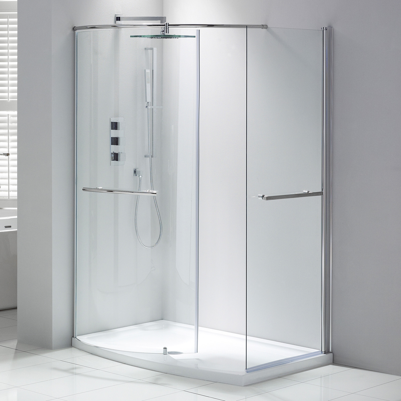 Aquaglass+ Purity 6mm Closing Walk-In Enclosure - Left Hand