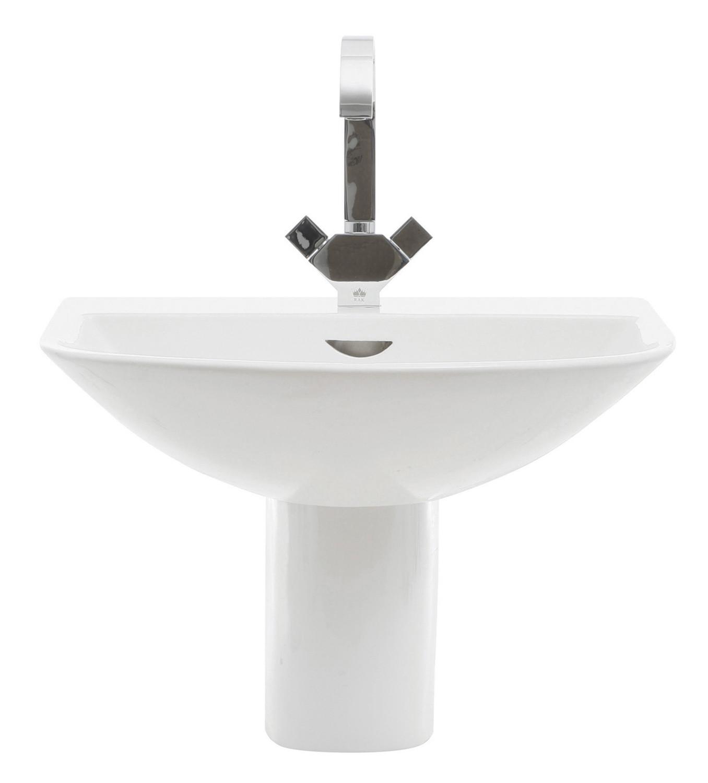 Reserva 550mm Semi-Pedestal Basin - 1 Tap Hole