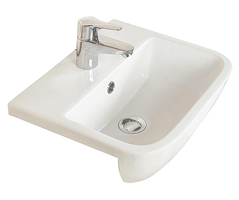 Series 600 Semi-Recessed Basin - 1 Tap Hole