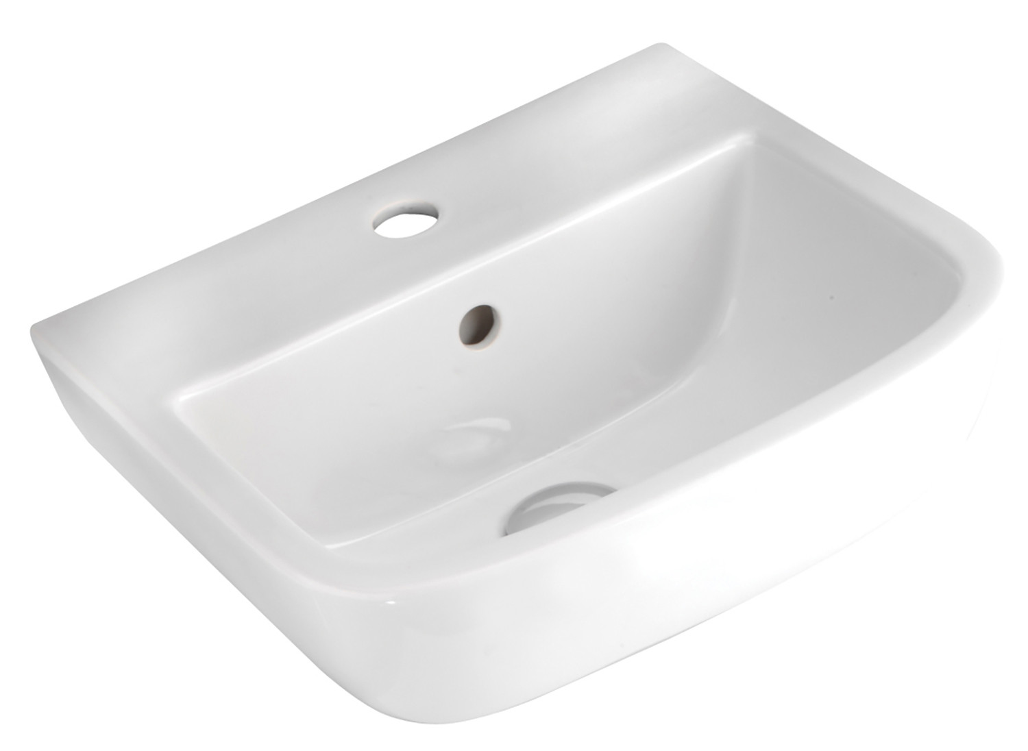 Series 600 400mm Cloakroom Basin - 1 Tap Hole