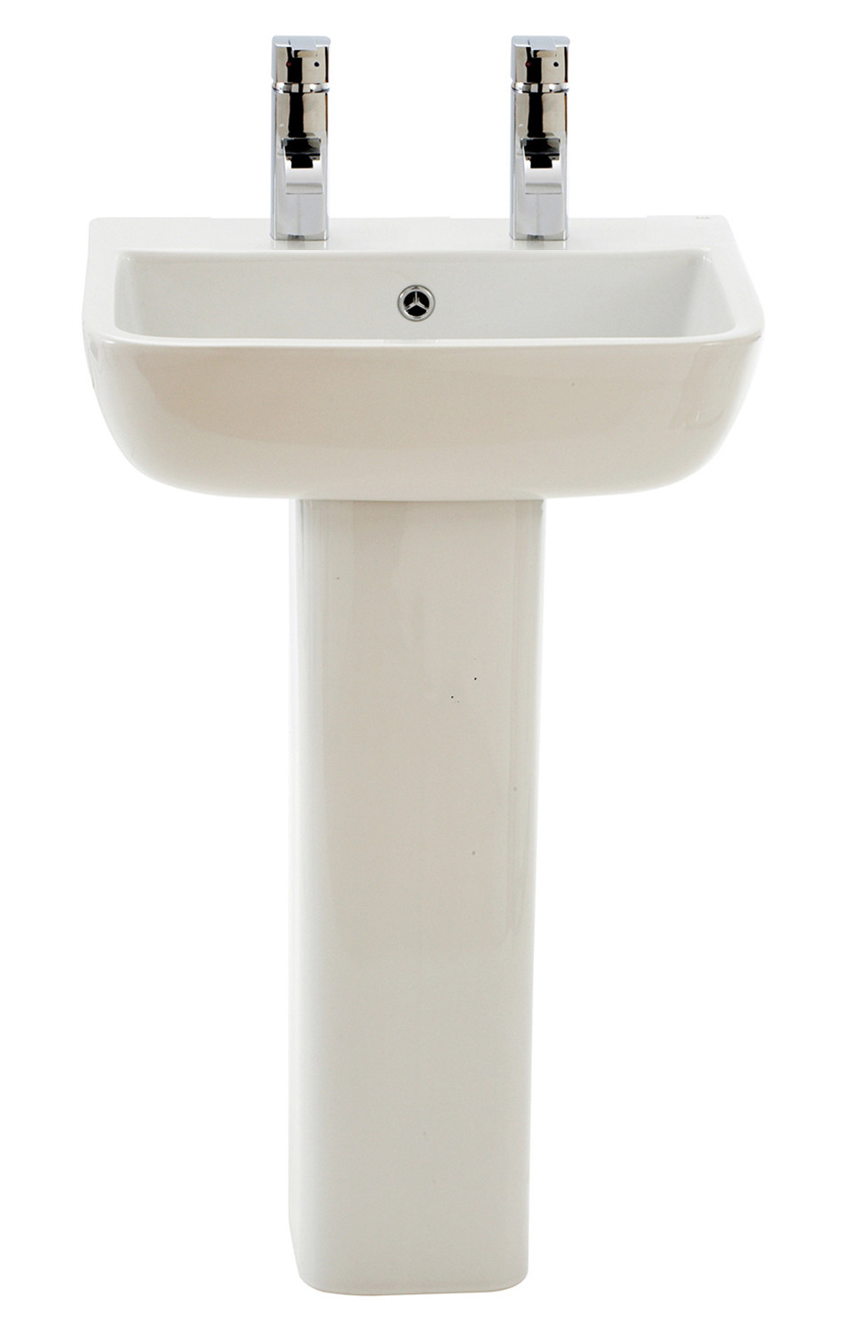 Series 600 Full Pedestal Basin - 2 Tap Holes