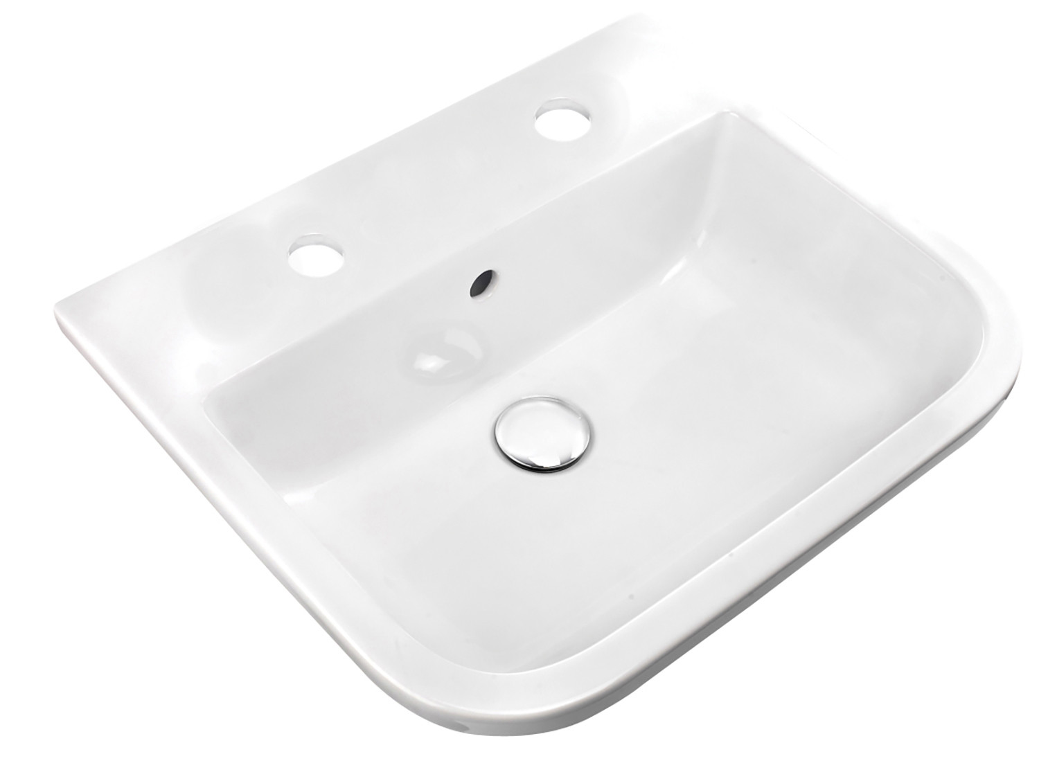 Series 600 500mm Inset Counter Basin - 2 Tap Holes