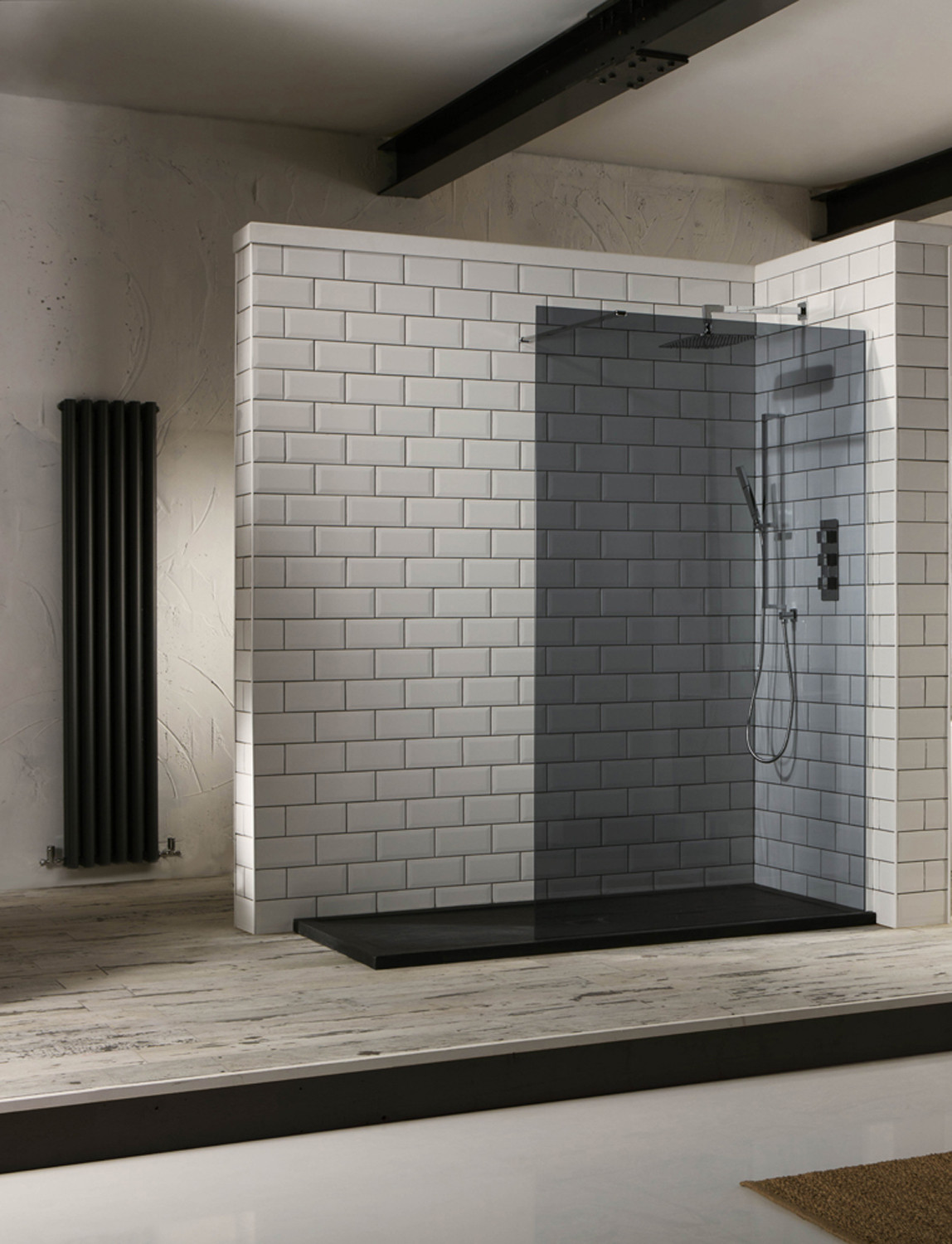 Aquaglass+ 10mm Tinted Walk-In Front Panel