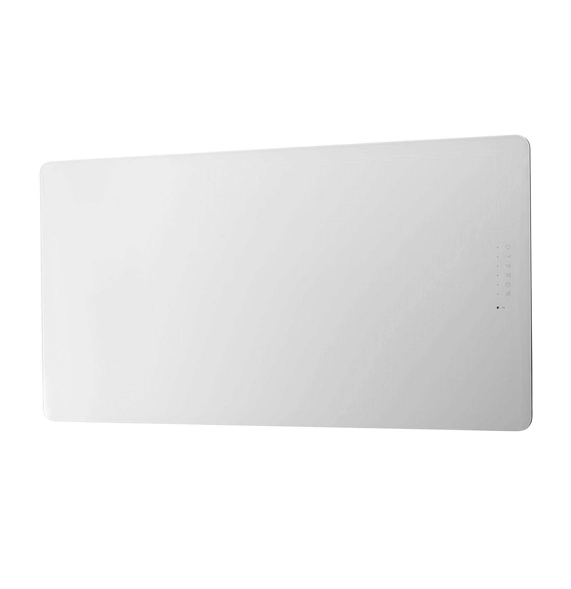 Vetro Frame Horizontal Electric Radiator White Frontlinebathrooms Com