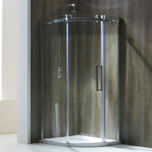 Aquaglass+ Frameless 8mm 1 Door Quadrant Enclosure